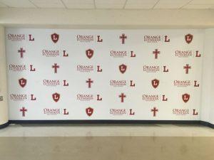 Clearwater Church Signs custom wall vinyl step repeat mural 300x225